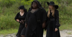 Jamie-Brewer-as-Nan-Gabourey-Sidibe-as-Queenie-Taissa-Farmiga-as-Zoe-in-AHS-Coven